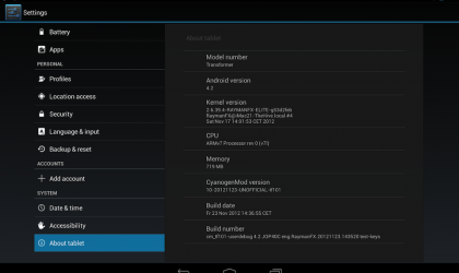 Android 4.2 ported to ASUS Eee Pad Transformer TF101 — Guide