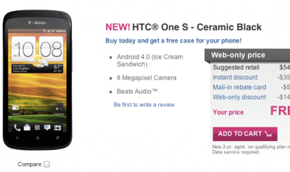 Black HTC One S hits T-Mobile!