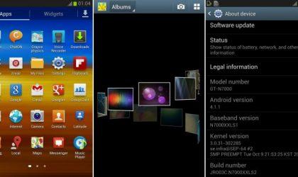 Samsung Galaxy Note Jelly Bean Update: N7000XXLS2