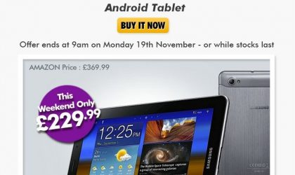 Samsung Galaxy Tab 7.7 price slashed to £229 [Weekend Deal]