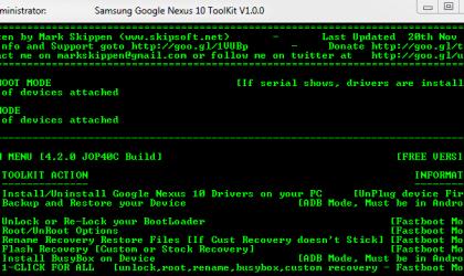 Nexus 10 Toolkit