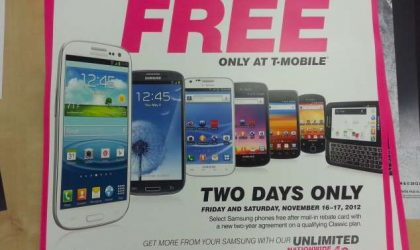 Sale on Samsung phones going over at T-Mobile