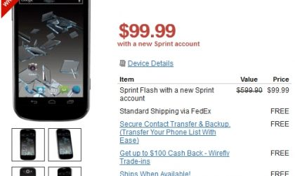 Sprint ZTE Flash price and specs now official
