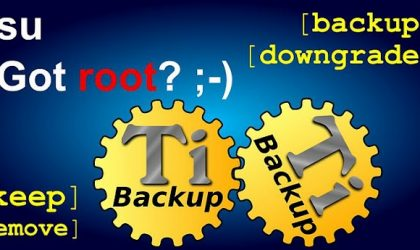 Create flashable zip files of apps and data now with your fav and just updated Titanium Backup Android app