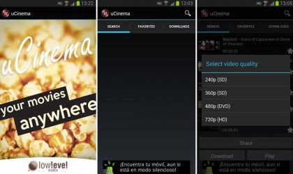 Watch Movie Trailers and Music Videos using uCinema Android App