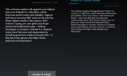 Android 4.2 for Galaxy Nexus Yakju build and Nexus 7 rolling out now