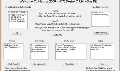 Download HTC Desire C All-In-One Toolkit