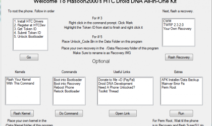 HTC Droid DNA Toolkit released