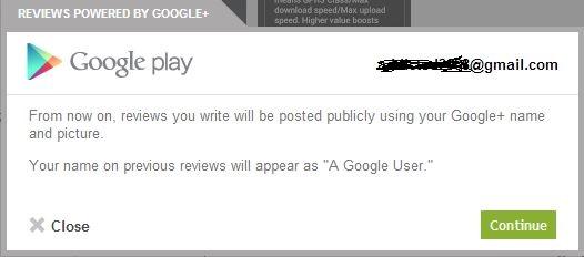 Google+ profile integration on Google Play