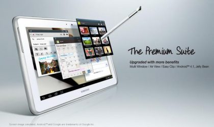 Premium Suite included with Jelly Bean update for the Galaxy Note 10.1; Brings extended Multi-window features, Air View and more.