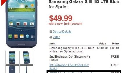 RadioShack giving away $50 Play Store gift cards with Samsung Galaxy S3