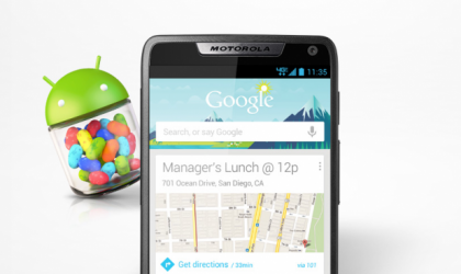 Jelly Bean update rolling out for Motorola RAZR M