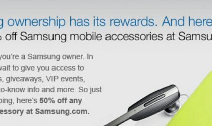 Get 50% discount deal on Samsung Accessories by registering your Samsung device in the U.S.