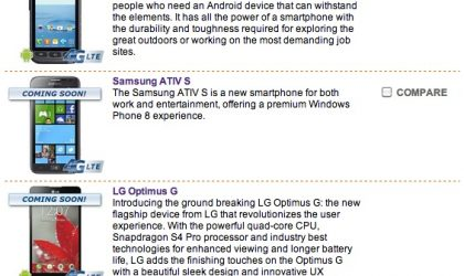 SaskTel Canada lists the Optimus G as coming soon