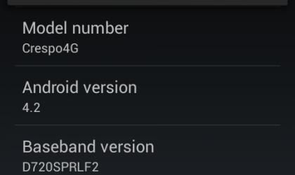 Sprint Nexus S gets some taste of Android 4.2, pre-alpha ROM available
