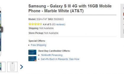 Deal: AT&T Galaxy S3 available for $50 only at BestBuy