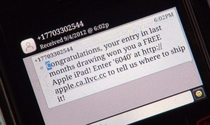 Beware of fake SMS if you install APKs directly!