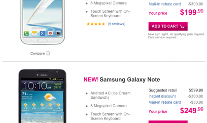 T-Mobile thinks Original Galaxy Note is better than Note 2!