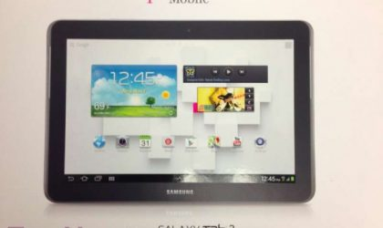 Samsung Galaxy Tab 2 10.1 arrives in T-Mobile stores