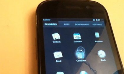 WebOS shows up again; this time as a custom app on the Nexus S.