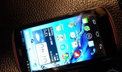 Acer V360 Specs and Pictures Leak, looks like a 4.5″ mid-range device