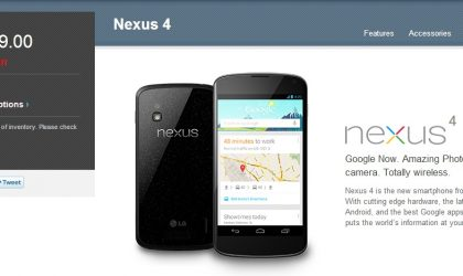 8GB Nexus 4 Sold Out again on Google Play!