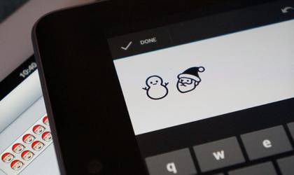 Sad Santa in Android's Emoji keyboard?