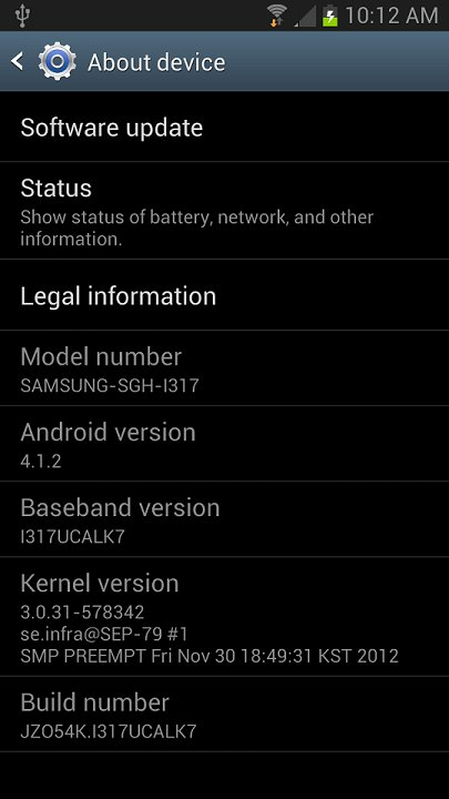 Update AT&T Galaxy Note 2 manually to rooted Android 4.1.2 based I317UCALK7 firmware with multi-window support