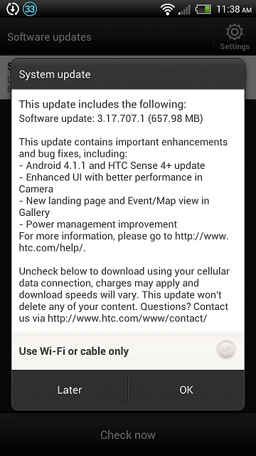 Jelly Bean OTA Update for HTC One XL (Evita) rolling out, version 3.17.707.1