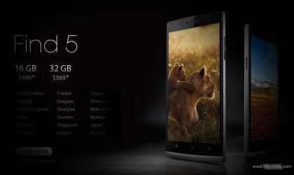 32 GB Oppo Find 5 announced with release info specified for 5 more countries!