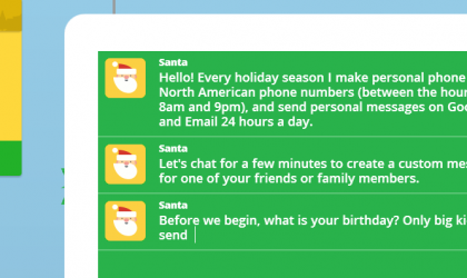 Google and Santa Claus team up this Xmas to send personalized robocalls to whomever you choose.