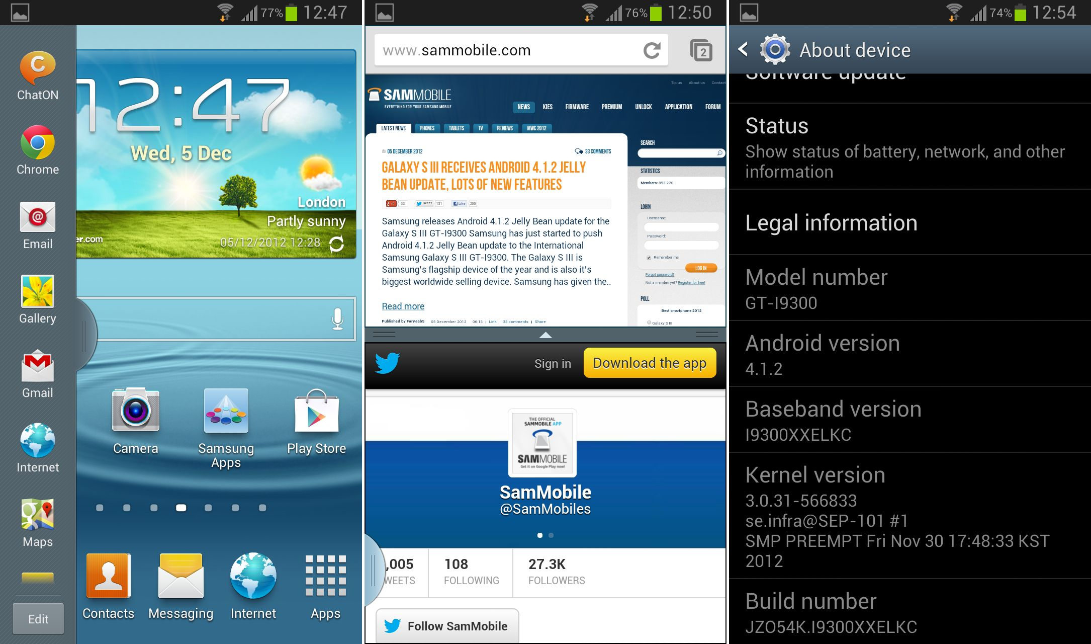 first android 4 1 2 jelly bean firmware for galaxy s3 released rh theandroidsoul com Android 4.2.2 Android Logo