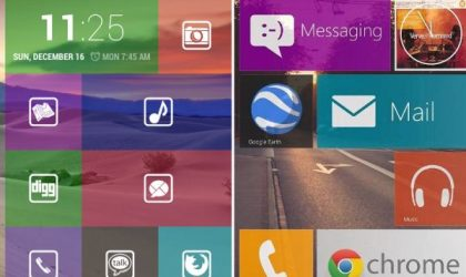 Tile Launcher is the best Windows Phone 8 Like Home Screen App for Android yet!