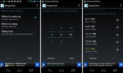 [Cool App] Holo UI based SleepyTime BedTime calculator tells what time is good to wake up