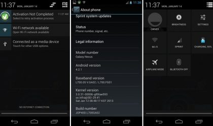 Manually Install Android 4.2.1 Jelly Bean Update on Sprint Galaxy Nexus L700 [Leak]