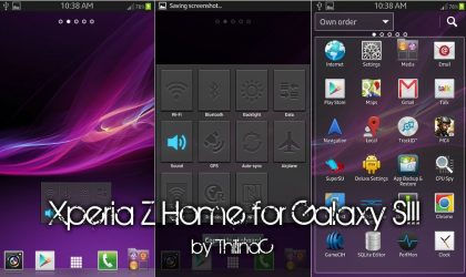 Sony Xperia Z Home Launcher ported to Samsung Galaxy S2, S3, Note and Note 2