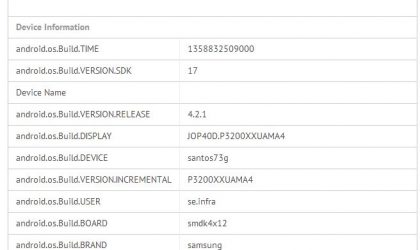 Some Samsung Galaxy Tab 3 7.0 Specs confirmed thanks to benchmark listing
