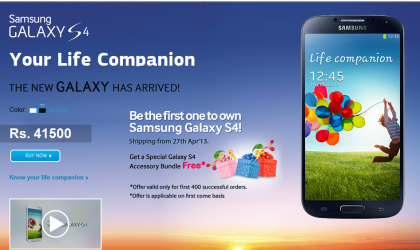 Samsung Galaxy S4 launched in India, sports Exynos Octa chipset