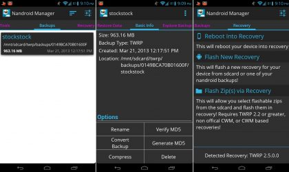 Manage Nandroid backups with Nandroid Manager – view, extract, and much more [Root]
