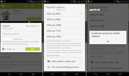 Carrier Billing support for India glimpsed in revamped Google Play Store