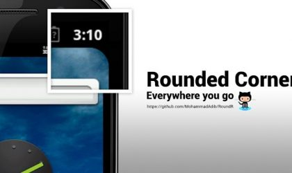 RoundR gives you rounded corners in apps on your Android device