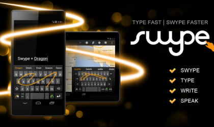 Swype Keyboard for Android now available on Google Play Store