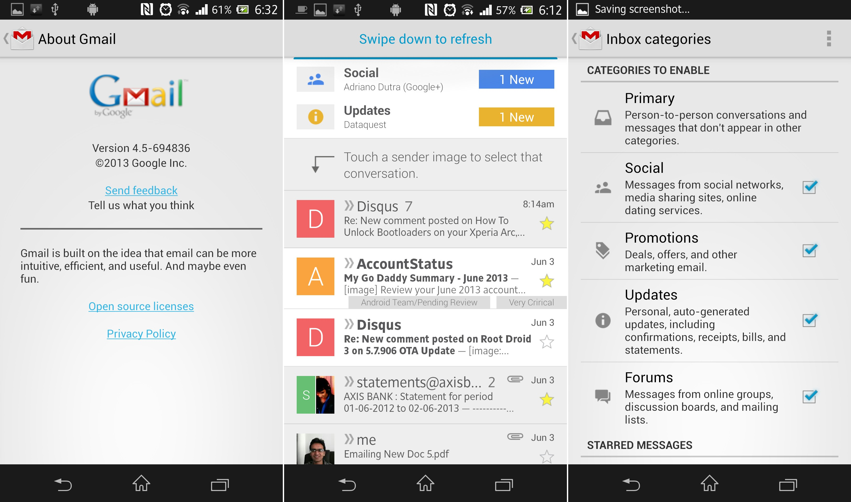 Download New Gmail APK v4.5 with Categories, Contact Icons ...
