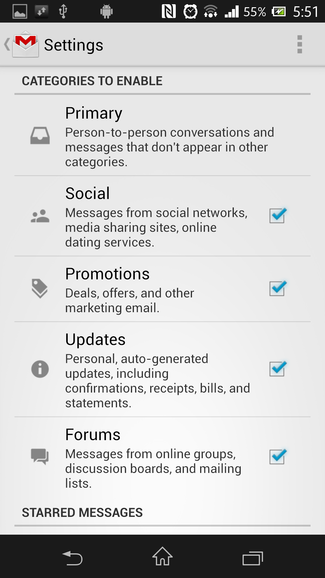 Gmail-Android-App-Categories