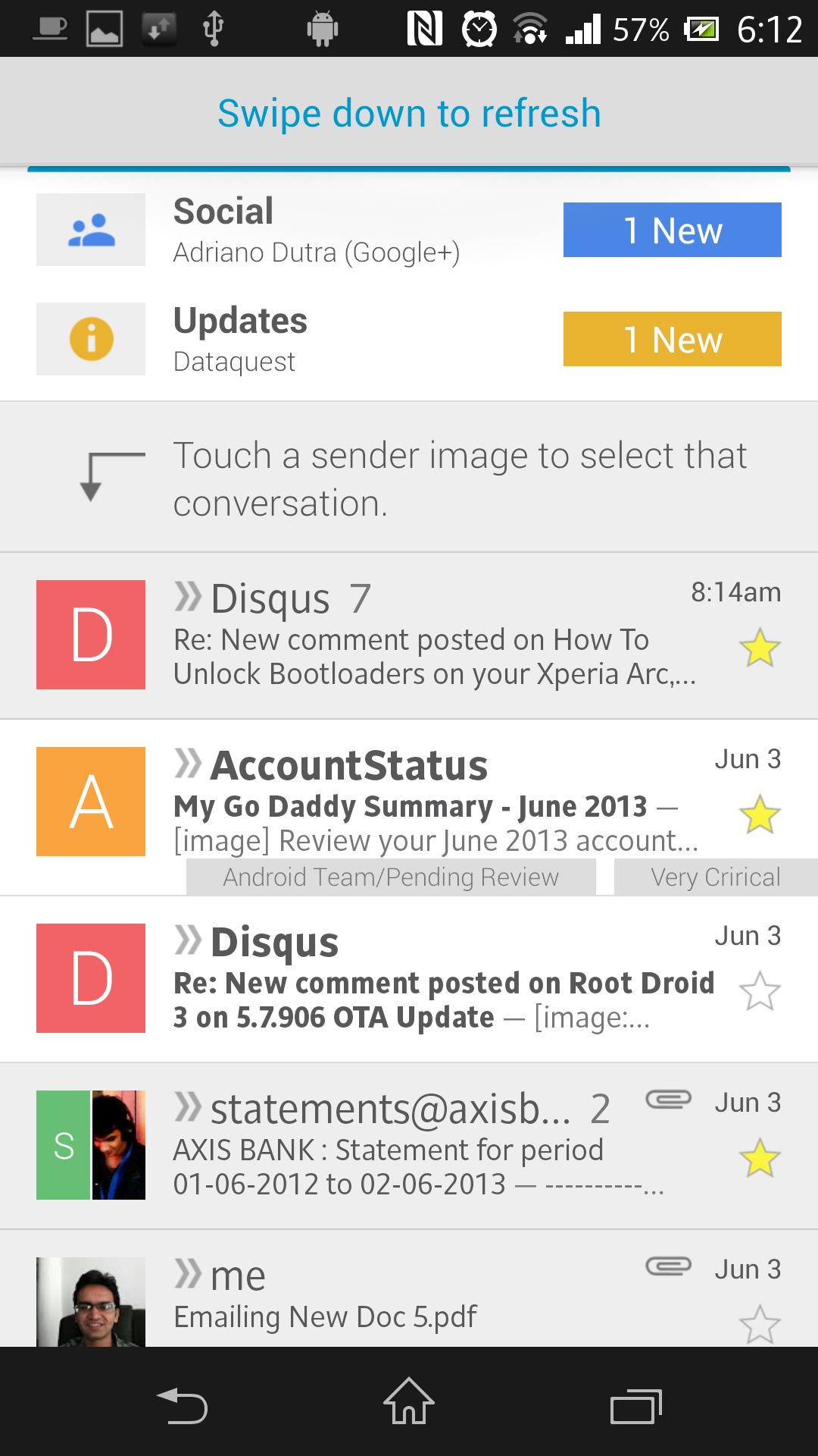 Swipe-Down-to-Refresh-Gmail