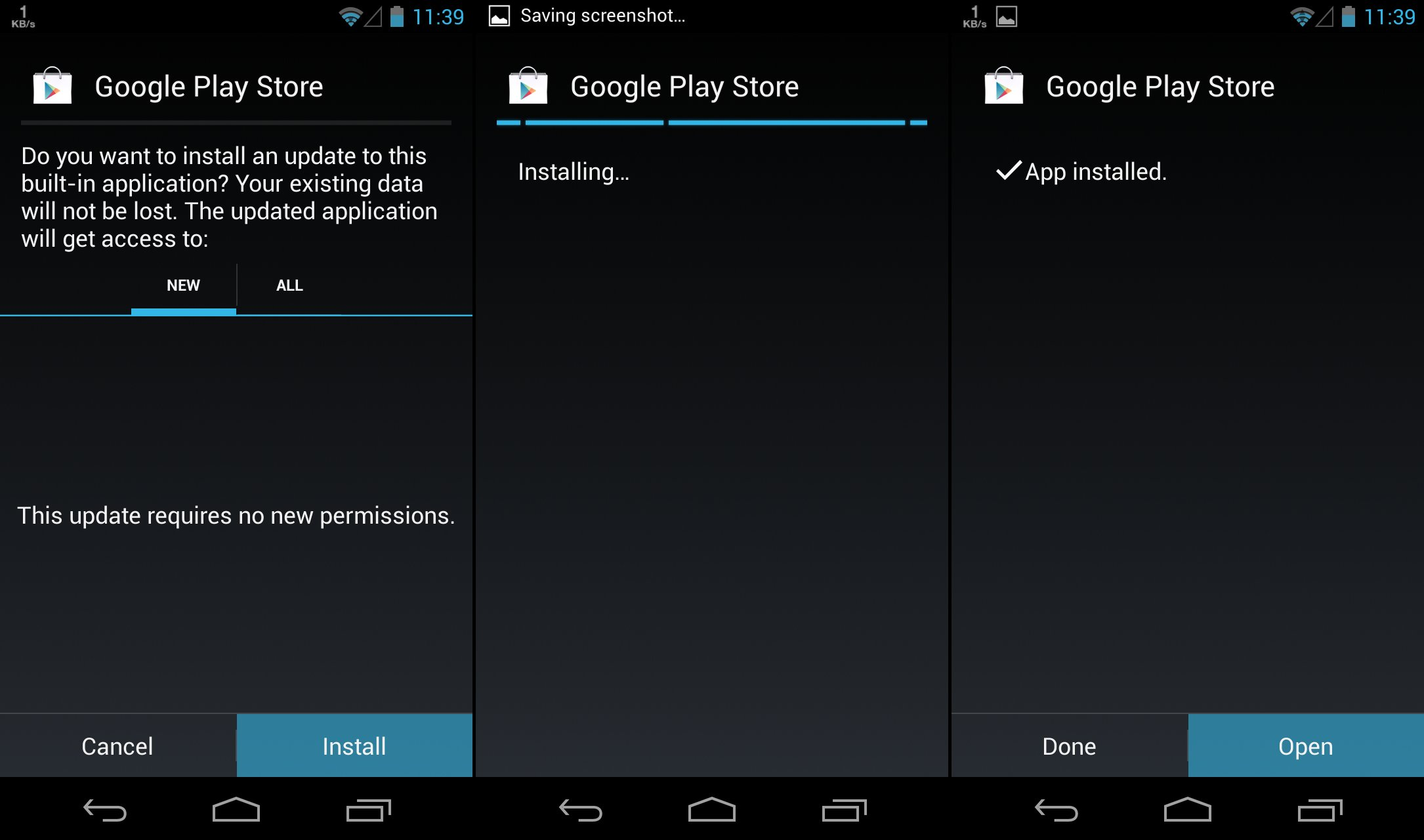 Installer service google play apk
