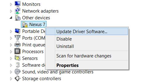 Nexus-7-Driver-Installation