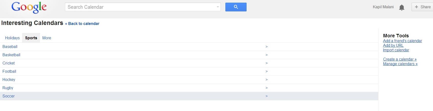 Add Public Calendar to Google Calendar