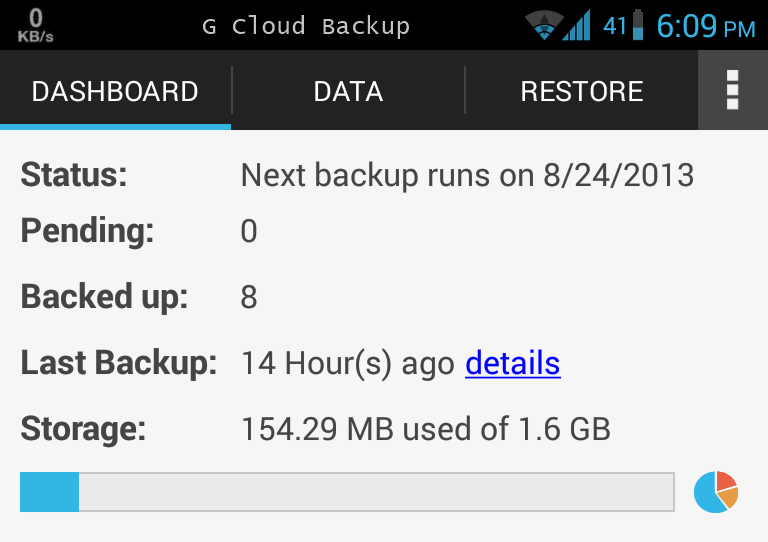 G Cloud Backup Android App