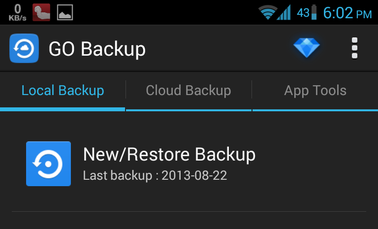 Go Backup Android App
